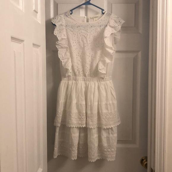 H&M Dresses & Skirts - White eyelet lace babydoll dress